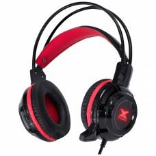Fone Headset VX Gaming Taranis V2 P2 com microfone - preto e vermelho - Vinik