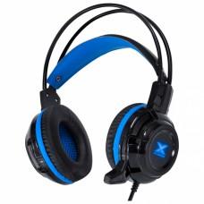 Fone Headset VX Gaming Taranis V2 P2 com microfone - preto e azul - Vinik