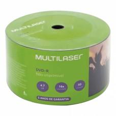 DVD -R 4.7GB 16X - pino com 50 unidades - Multilaser