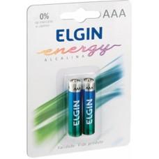 Pilha Alcalina AAA ELGIN - Cartela com 2 unidades