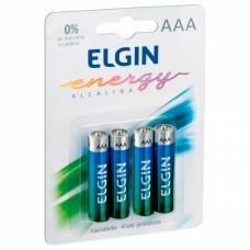 Pilha Alcalina AAA ELGIN - Cartela com 4 unidades