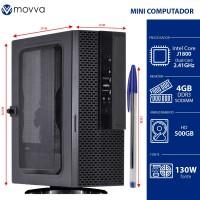 Mini Computador Lite INTEL Dual Core J1800 2.41GHZ 4GB HD 500GB HDMI/VGA  Linux - MVMLIJ18005004 - Movva