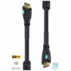 Cabo HDMI 2.0 4K Ultra HD 3D Conexão Ethernet com filtro 15m - H20F-15 - Vinik