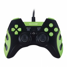 Controle Gamer para PC e PS3 preto e verde JS061 - Multilaser
