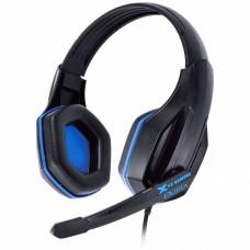 Headset Gamer VX Gamimg Ogma preto e azul estéreo com microfone - Vinik