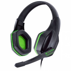 Headset Gamer VX Gamimg Ogma preto e verde estéreo com microfone - Vinik