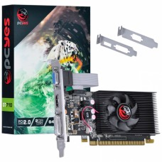 Placa de Vídeo Nvidia Geforce GT710 2GB DDR3 64 Bits com kit low profile single fan - PA710GT6402D3LP - PCYES