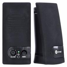 Caixa de som 2.0 USB 6W RMS One preta - VS-202 - Vinik